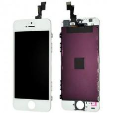 Display cu touchscreen si rama Apple iPhone 5S, SE alb
