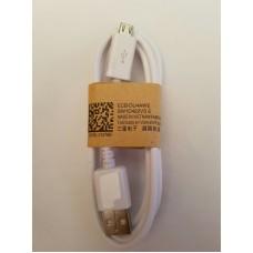 Cablu microusb 1m alb
